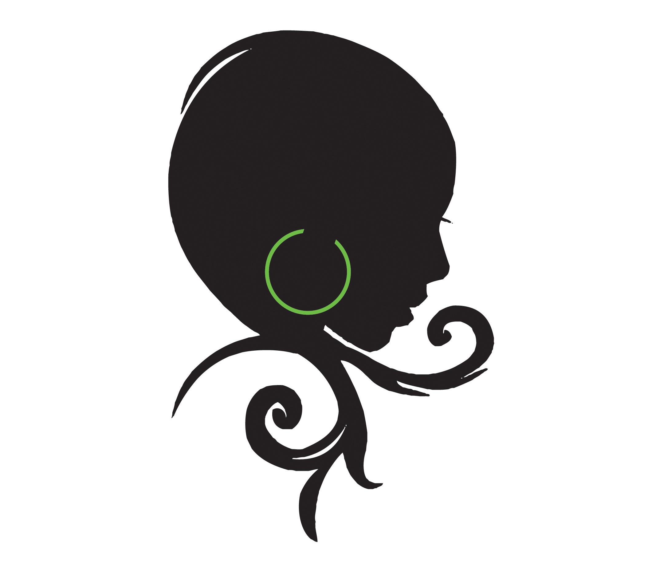 natural hair silhouette.