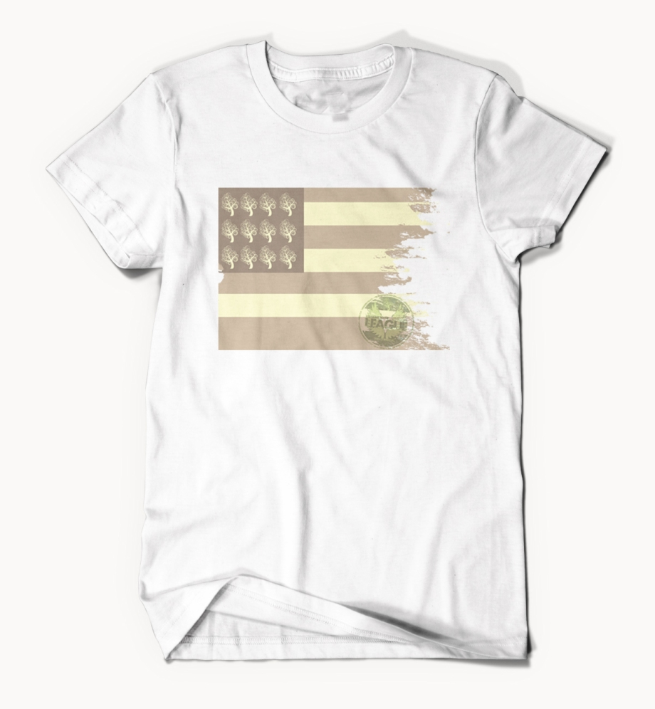 Ecru Faded Flag White